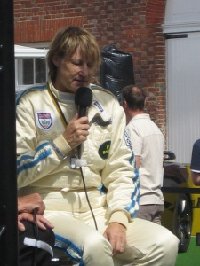 Desire Wilson being interviewd at 2009 Goodwood Festival Of Speed